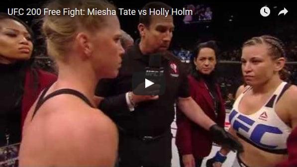 Miesha Tate vs Holly Holm full fight video