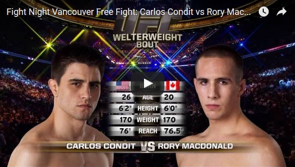 Carlos Condit vs Rory MacDonald Full Fight Video