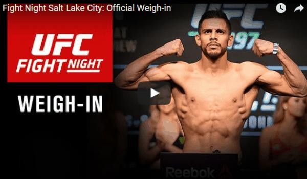 UFC Fight Night 92 Weigh In