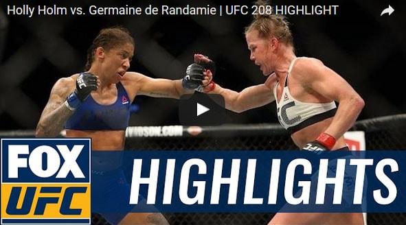 Holly Holm vs Germaine de Randamie Full FIght Video Highlights