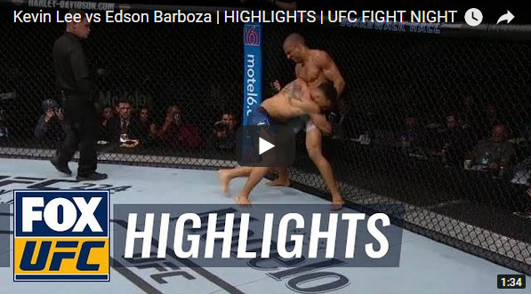 Kevin Lee vs Edson Barboza Full Fight Video Highlights